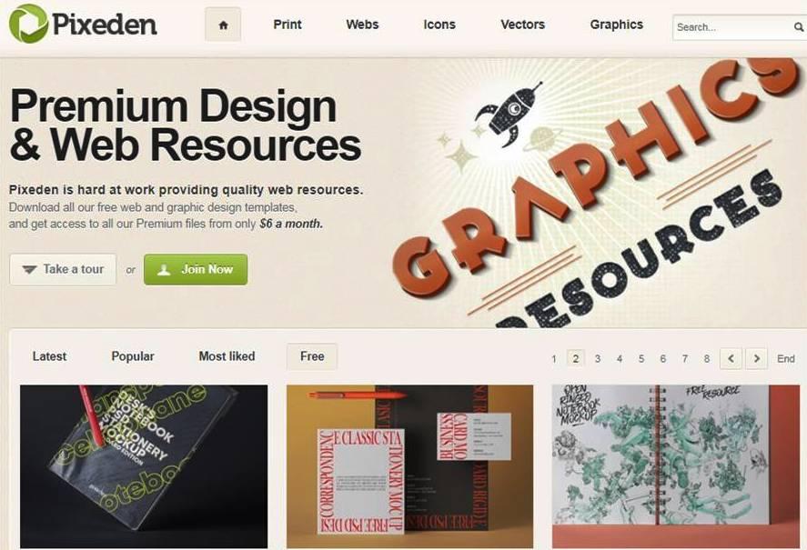 Pixeden Mockup website