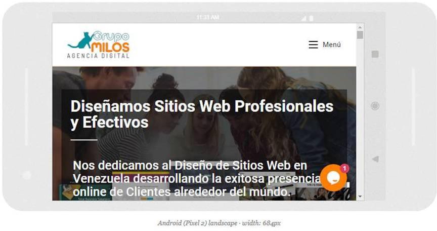 Diseño web adaptable - Grupo Milos C.A.